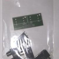 paket 4 pcs Socket RCA 2 Pin + bonus PCB [ 4way stereo ]