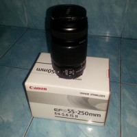 Canon EOS 700D Lensa Kit 18-55mm IS STM + Tele canon 55-250mm is ii