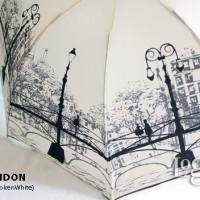 Payung Lipat London Fashion Motif Kota. Umbrella Gift Souvenir