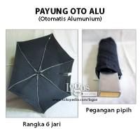 Payung Lipat OTOMATIS ALUminium Pipih Ringan Umbrella, OTO ALU