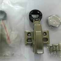 Engsel Sendok Kaca Hidrolis 26 mm Lurus Chrome