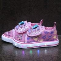 Sepatu lampu anak perempuan merk Kipper model Blink ukuran 22 - 26