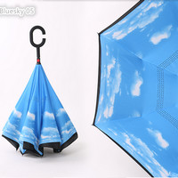Supplier Payung Terbalik Gagang C Reverse Umbrella free bubble packing