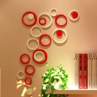 3D Wall Sticker Model BULAT bahan kayu ringan