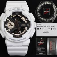 Jam Tangan Pria Wanita Sporty G Shock GA110RG Original BM White Black