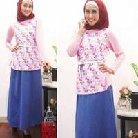 [St hk hijab FT] tunik wanita spandek pink