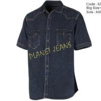 Kemeja jeans chambray big size cowok premium SJBS05