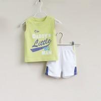 Baju Anak - Mom and Bab Lime White (MB-027F)