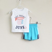 Baju Anak - Mom and Bab White Blue (MB-027C)