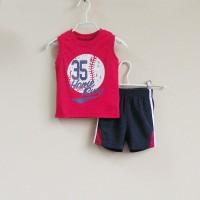 Baju Anak - Mom and Bab Red Black (MB-027B)
