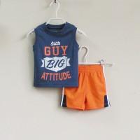 Baju Anak - Mom and Bab Blue Orange (MB-027E)