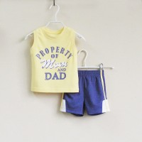 Baju Anak - Mom and Bab Yellow Blue (MB-027D)