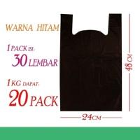 Kresek Kemasan Baju/Jilbab/Celana/Kaos Warna Hitam size 24x48cm