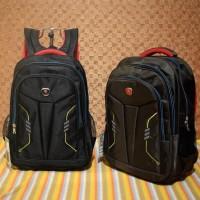 Tas Rasel Backpack Polo GS09 Hitam Coklat Raincover Sek Murah