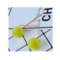 anting pompom cherry
