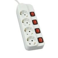 Stop Kontak 4 Socket Dengan Ekstensi Putih - KRISBOW