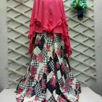 Produksi Baju Muslim syari CO 919523 romantic black  (set khimar lv)