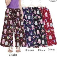 Celana Kulot anak usia 5-9tahun bahan katun linen motif karakter