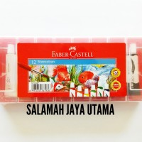 Watercolours 12 Warna/Cat Air 12 Warna Faber Castell (Plastic Case)