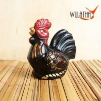 Celengan Ayam Jago Tradisional Hitam Camani Gerabah S - Clay