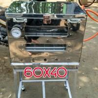 OVEN GAS STENLIS 60X40 + TERMOMETER via EKPEDISI - Oven NON Termo