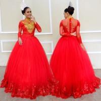 GAUN KEBAYA MODERN WEDDING BRIDAL MEWAH ANGGUN CANTIK GLAMOR