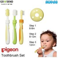 Pigeon Baby Training Toothbrush Set Sikat Gigi Bayi Tooth Brush