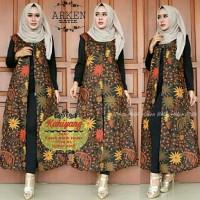 tunik batik long cardy cardigan panjang outer