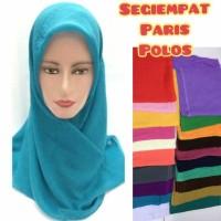 jilbab hijab kerudung segiempat segi empat paris japan polos azara