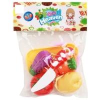 Mainan Buah / Sayur Potong Food Heaven Kantong Isi 4Pcs Murah