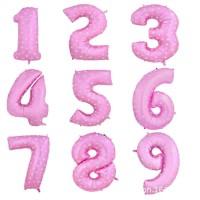 Balon Foil Angka Pink 40cm