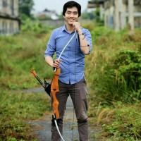 Busur Panah wooden recurve bow modern rucika fiber archery