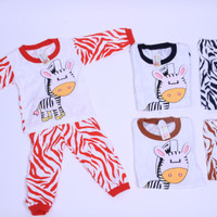 Jual  Piyama Anak Baby 1-3Thn Zebra White  Baju Tidur Setelan Laki La
