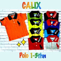 Promo  Baju Kaos Polo Anak Baby Premium 1-3y