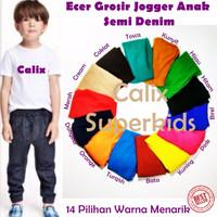 Promo  Celana Jogger Anak Denim Strech Size M 3-4thn