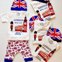 Diskon Setelan Baby London 1-2thn Baju Anak Murah Baju Tidur Anak All