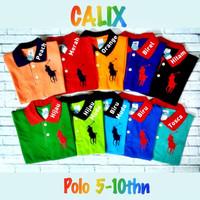 Promo  Baju Kaos Polo Anak Premium Size M (7-8thn)