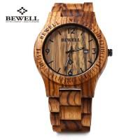Jam Tangan dari kayu unik Produk Bewell ZS-W086B