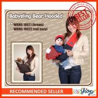 Moms Baby Carrier Gendongan Bayi Samping Baby Sling Bear Hooded G1002