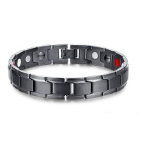 Ion Infrared Magnetic Health Bracelet Gelang Pria Titanium Kesehatan