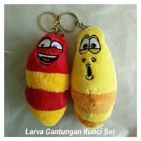 mainan boneka larva gantungan kunci hiasan gantungan tas anak sekolah