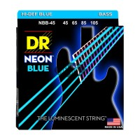 Senar Bass DR Strings, K3 Neon HI-Def Blue Bass, NBB-45 (45-105)