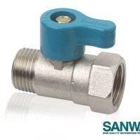 MINI BALL VALVE / STOP KRAN KERAN AIR KECIL SANWA (MALE-FEMALE) 1/2""