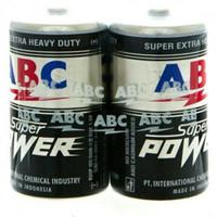 Batere ABC Super power size jumbo type D untuk baterai Pompa galon