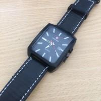 Jam Tangan Pria Wanita Murah Swiss Army 621 Premium Full Black