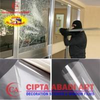 stiker kaca / kaca film clear safety 2 mil anti gores pelindung cermin