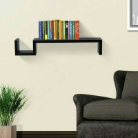 FLOATING SHELF AMBALAN MODEL S RAK BUKU MELAYANG