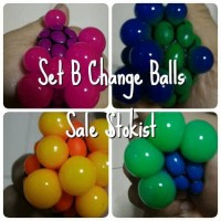Squishy Color Change Mesh ninja anti stress Ball Bola anggur