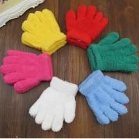 Sarung Tangan Wol Tebal Winter Warna Solid untuk Anak - Biru Muda
