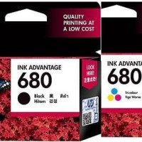 HP 680 Black/Colour Catridge Printer Tinta Original